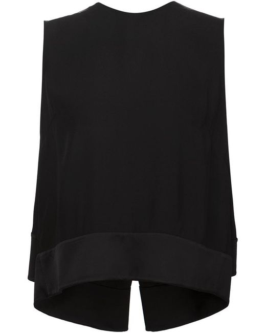 Adam Lippes - Black Layered Tank - Lyst