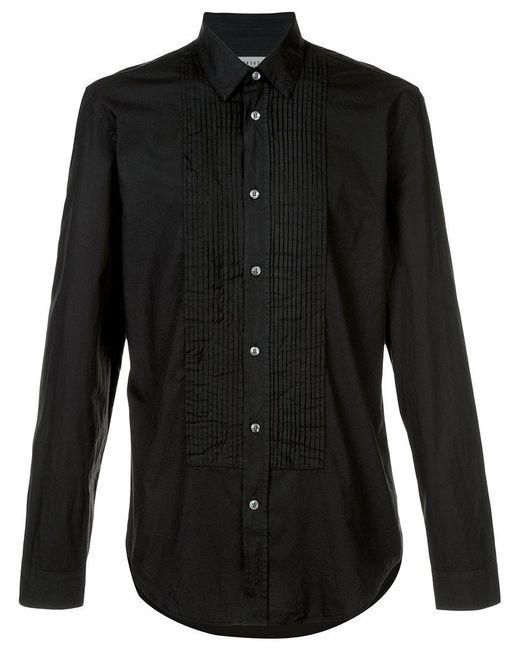 Maison Margiela | Black Smart Pleated Shirt for Men | Lyst