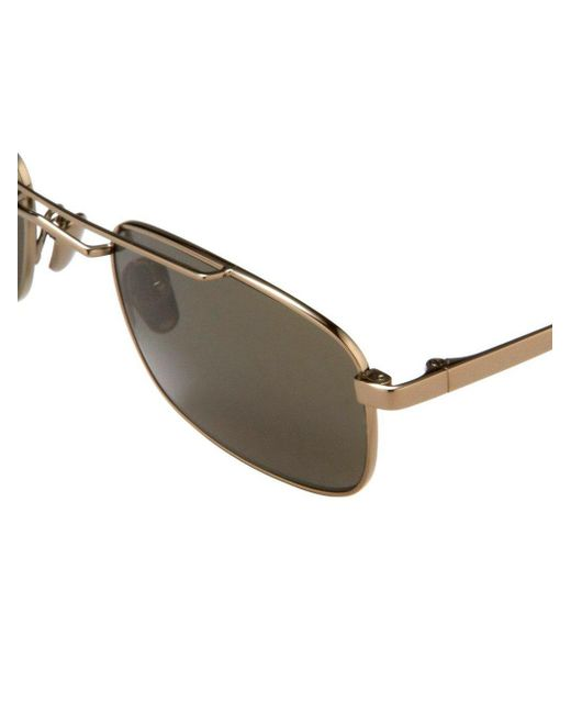 268 C4 Metallic Sunglasses In Lyst Linda Farrow 0qCApwxOZ