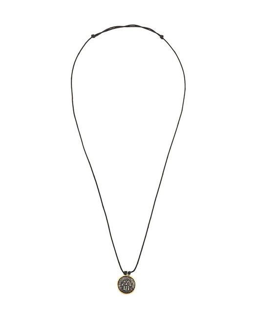 Gemco - Metallic Cross Coin Pendant String Necklace for Men - Lyst