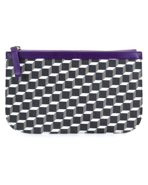Pierre Hardy - Black Mini Cube Design Clutch - Lyst