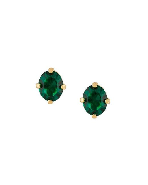 Wouters & Hendrix - Green A Wild Original! Emerald Crystal Stud Earrings - Lyst