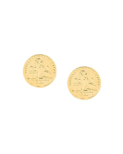 Wouters & Hendrix - Metallic Coin Earrings - Lyst