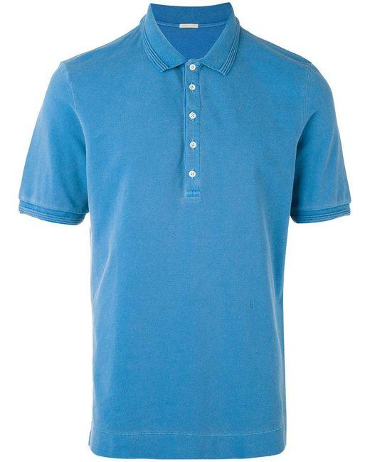 Massimo Alba - Blue Short Sleeve Tennis Shirt for Men - Lyst