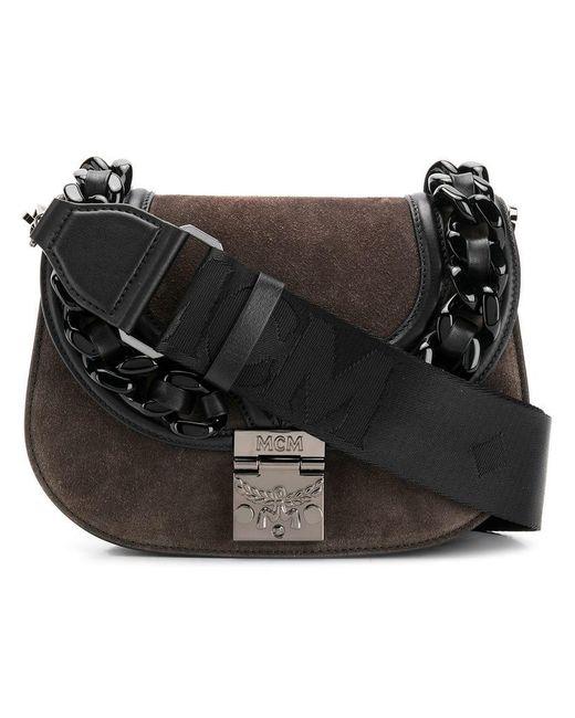 MCM - Gray Small Trisha Shoulder Bag - Lyst