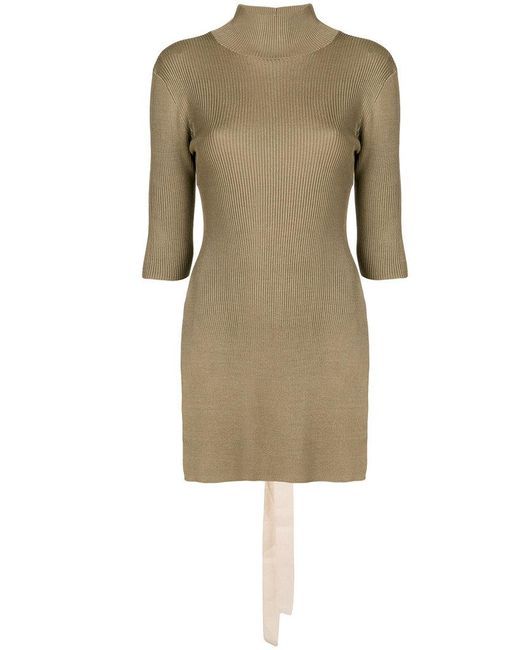 Erika Cavallini Semi Couture - Brown Long-sleeve Ribbed Top - Lyst ... 787622845