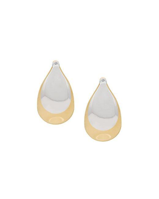Charlotte Chesnais - Metallic Large Petal Gold-plated Earrings - Lyst