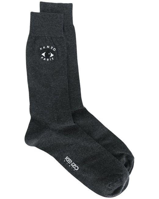 KENZO | Gray Eye Socks for Men | Lyst