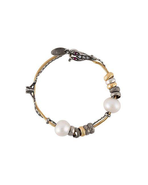Iosselliani - Metallic 'silver Heritage' Pearl Bracelet - Lyst