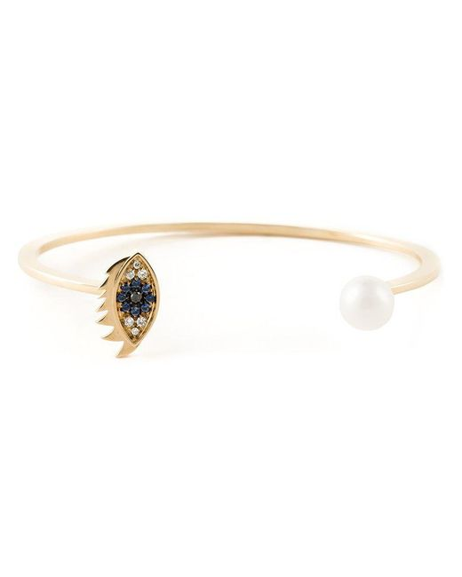 Delfina Delettrez - Metallic 'eyes On Me Piercing' Bracelet - Lyst