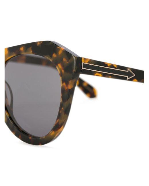 420288d83a8c ... Karen Walker - Brown Number One Sunglasses - Lyst ...
