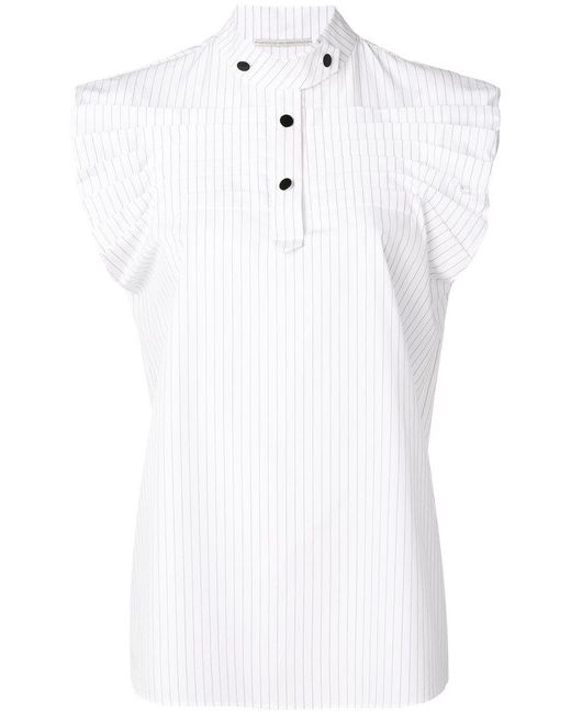 Marco De Vincenzo - White Pinstriped Shirt - Lyst