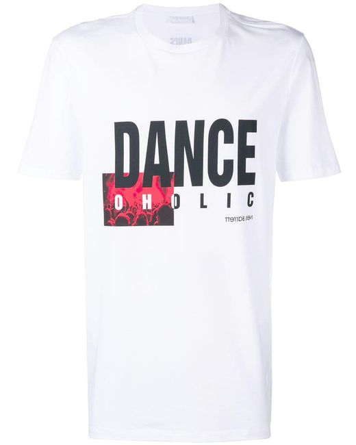 Neil Barrett - White 'Danceholic' T-Shirt for Men - Lyst