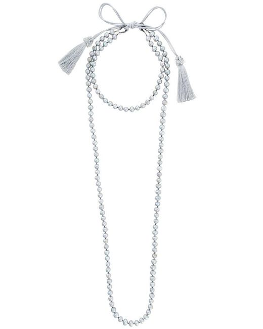 Night Market - Gray Pearl Layered Necklace - Lyst