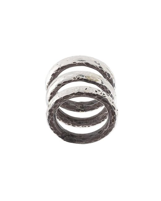 Henson - Gray Carved Stacker Rings - Lyst
