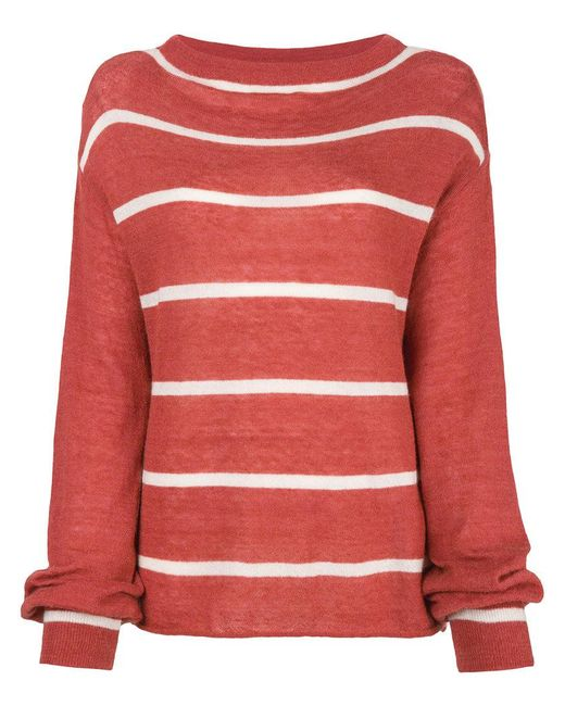MiH Jeans - Red Striped Jumper - Lyst