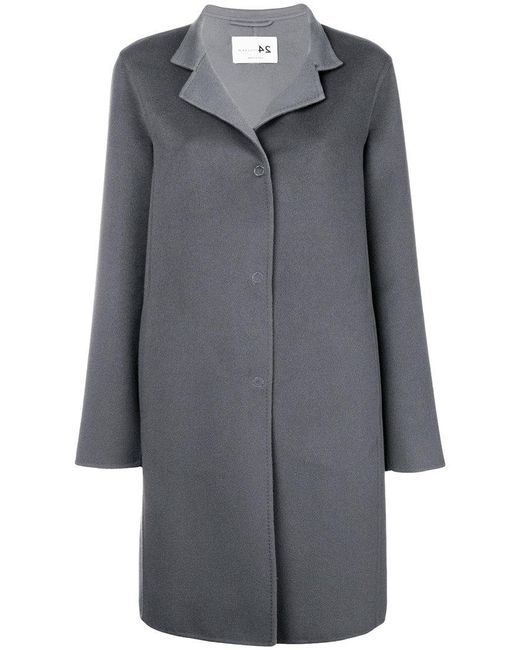 Manzoni 24 - Gray Single Breasted Coat - Lyst
