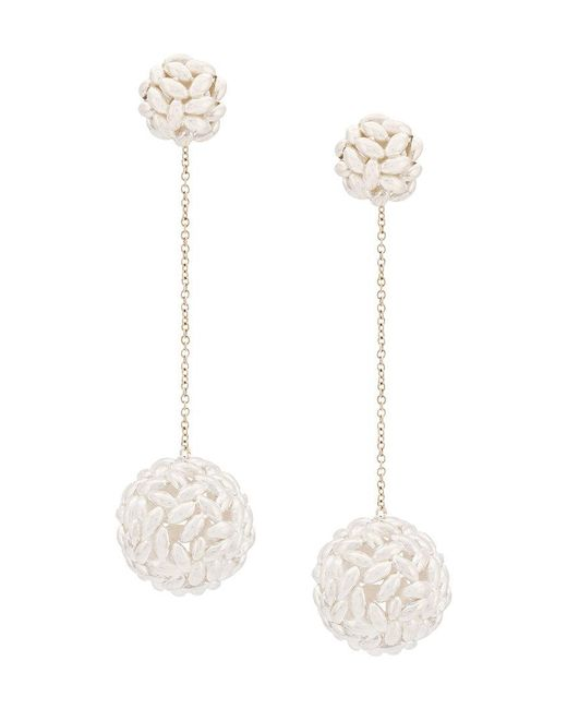 Bea Bongiasca - Metallic Rice Ball Drop Earrings - Lyst