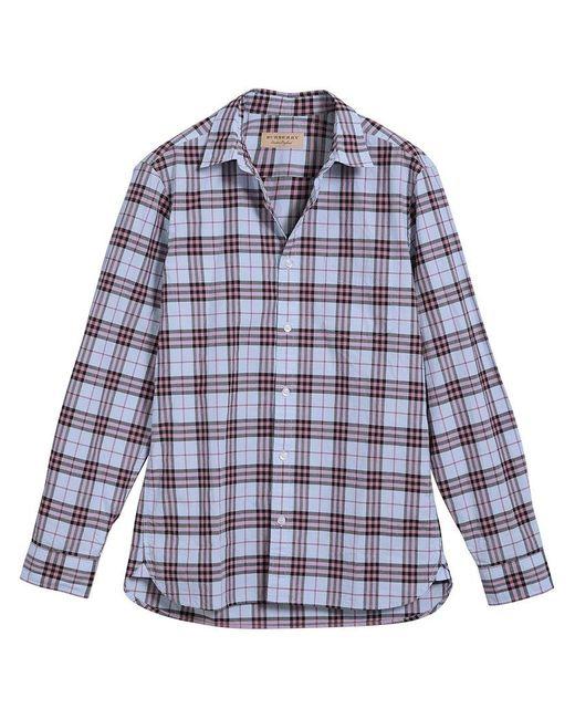 Burberry - Multicolor Check Print Shirt for Men - Lyst