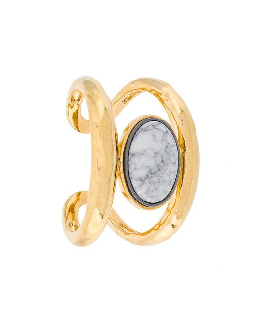 Aurelie Bidermann - Metallic Marble Open Cuff - Lyst