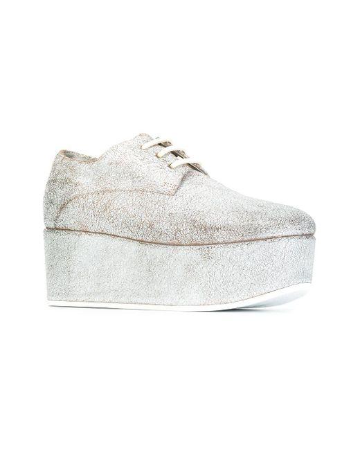 platform lace-up shoes - Grey Mars mDv658