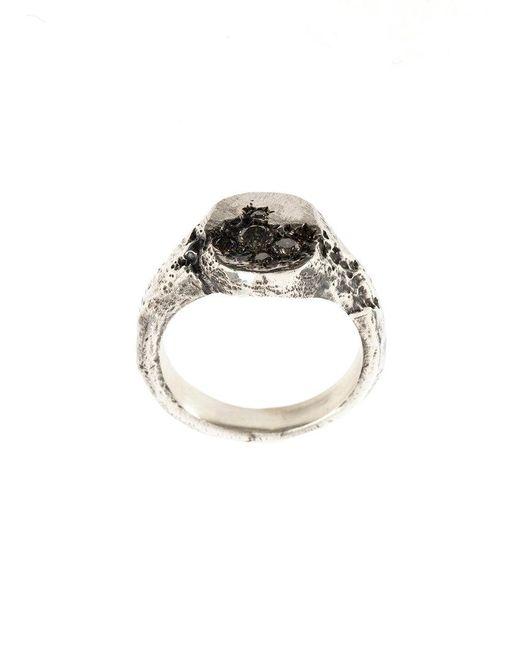 Tobias Wistisen - Metallic Oval Stone Ring - Lyst