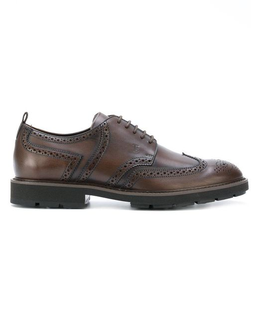 Tod's | Brown Brogue Shoes for Men | Lyst