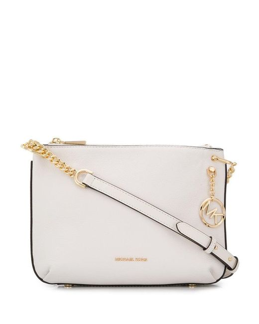 7ef519a508f6 MICHAEL Michael Kors - White Logo Chain Shoulder Bag - Lyst ...