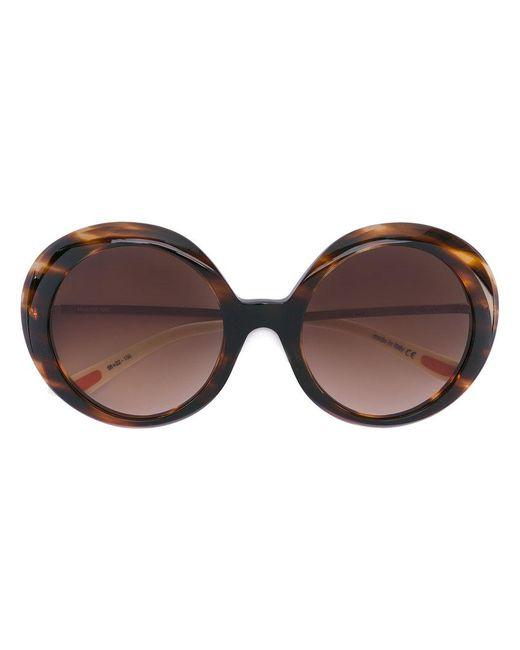 Christian Roth Eyewear - Brown Oversized Sunglasses - Lyst