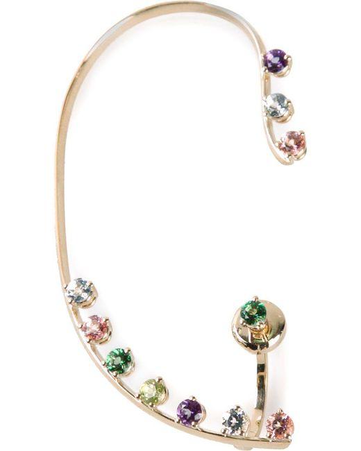 Delfina Delettrez | Metallic Multicolour Dots Earring | Lyst