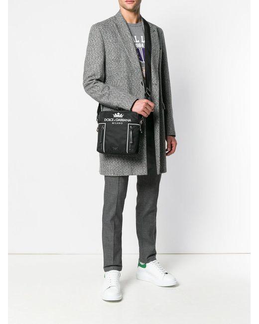 a75b9b9d02 Dolce & Gabbana Logo Print Crossbody in Black for Men - Save 51% - Lyst