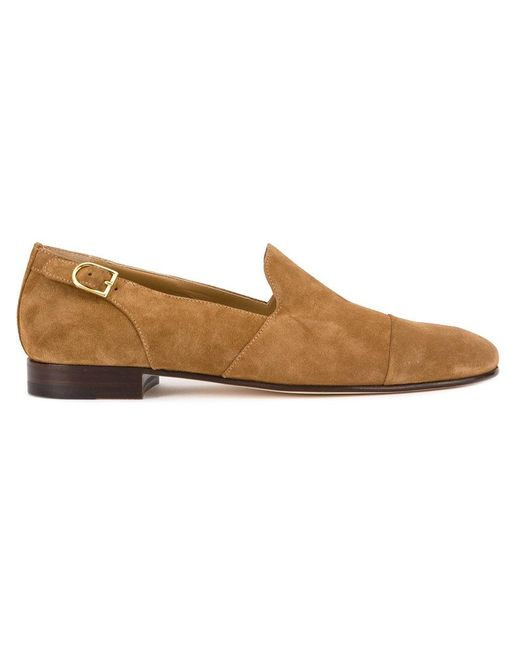 Edhen Milano - Brown Side Buckle Loafers for Men - Lyst