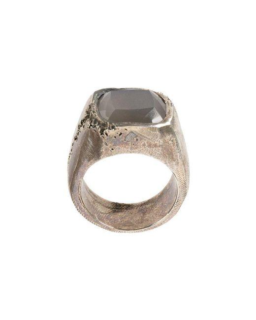 Tobias Wistisen - Metallic Moon Stone Embellished Ring - Lyst