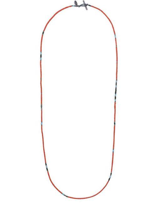 M. Cohen - Orange Perlenhalskette mit Silber for Men - Lyst