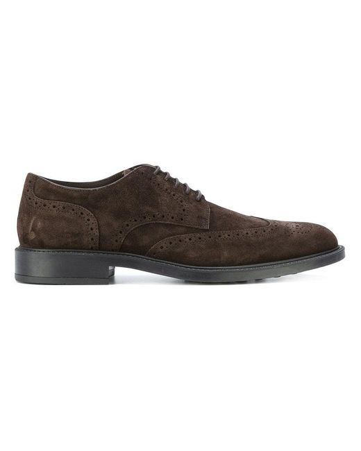 Tod's - Brown Casual Brogue Shoes for Men - Lyst