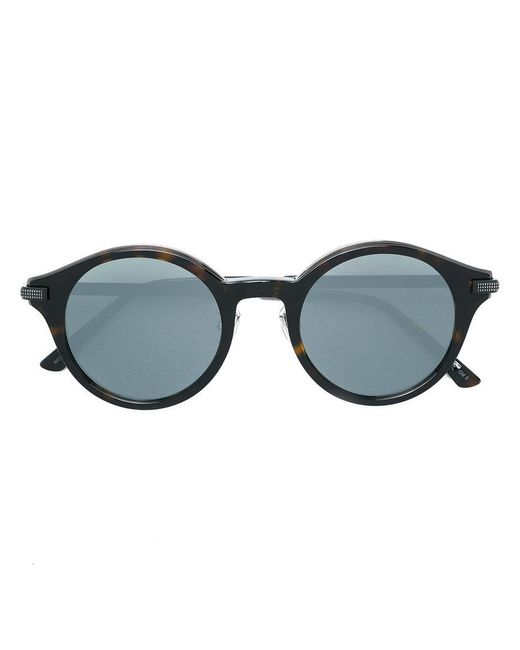 Jimmy Choo Nick Round Frame Sunglasses in Black for Men - Lyst