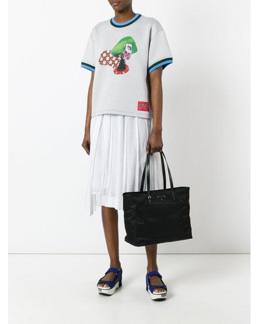 db0f54ea30 ... Prada - Black - Logo Plaque Tote Bag - Women - Nylon - One Size ...