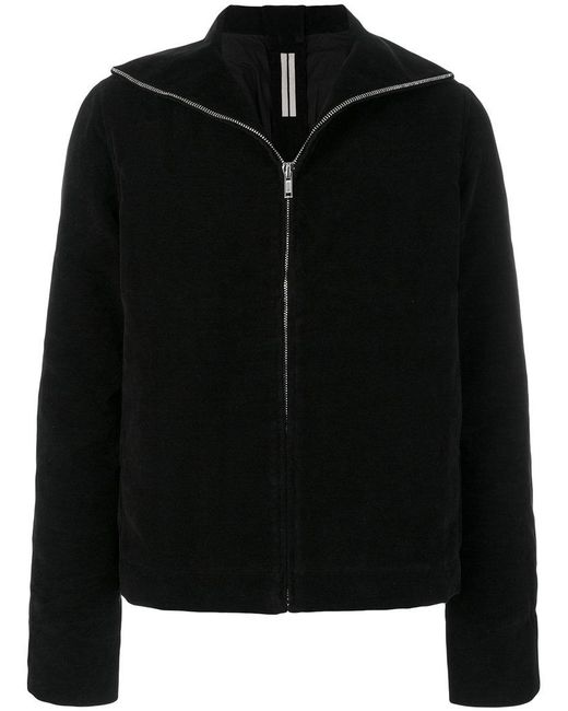 Rick Owens Drkshdw - Black Zipped Short Jacket for Men - Lyst