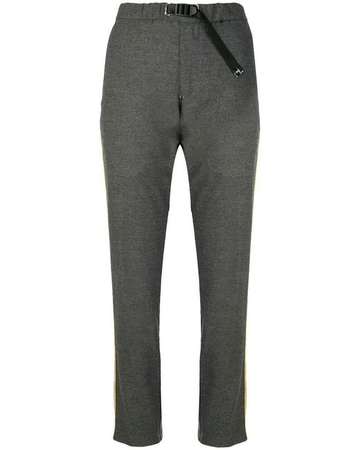 White Sand - Gray Side Stripe Trousers - Lyst