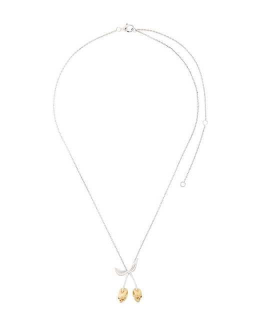 Kasun - Metallic Forbidden Cherry Necklace - Lyst