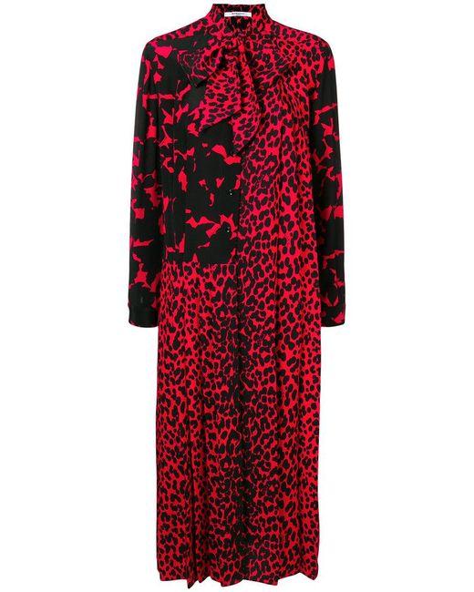 734f888fa3 Women's Red Lavallière Collar Midi Dress