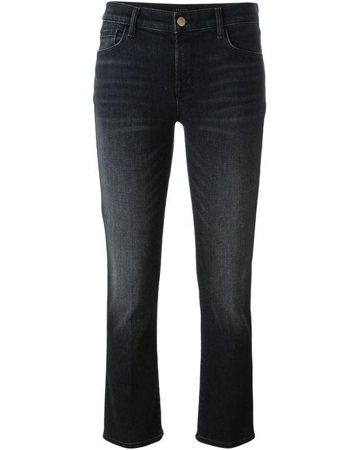 J Brand | Black Cropped Jeans | Lyst