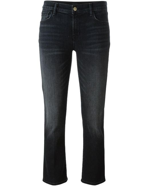 J Brand   Black Cropped Jeans   Lyst