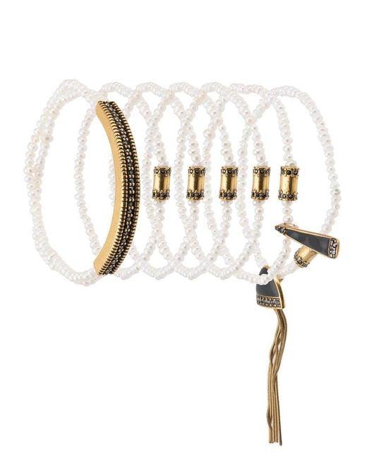 Camila Klein - Metallic Pearl Bracelets Set - Lyst