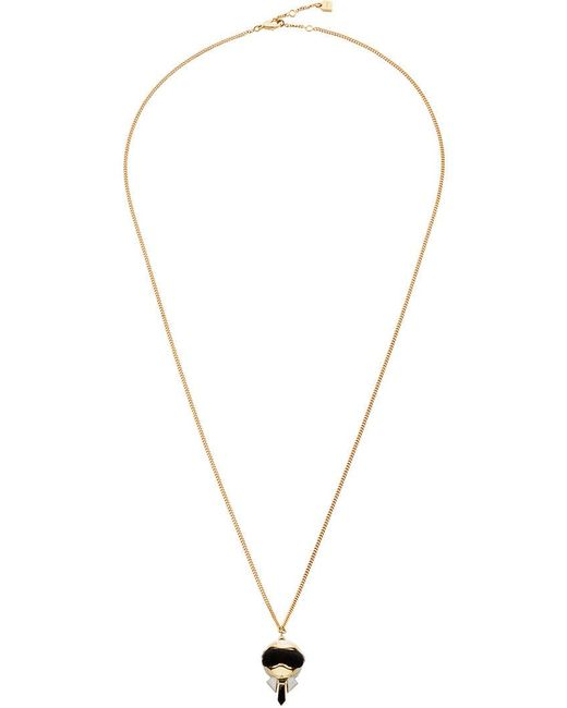 Fendi - Metallic Karlito Pendant Necklace - Lyst
