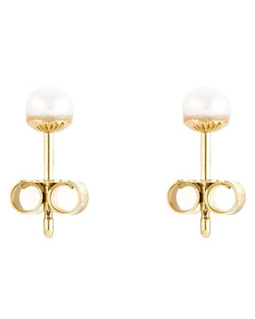 Wouters & Hendrix - White Pearl Stud Earrings - Lyst