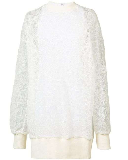 Vera Wang - White Pullover Dress With Slip - Lyst