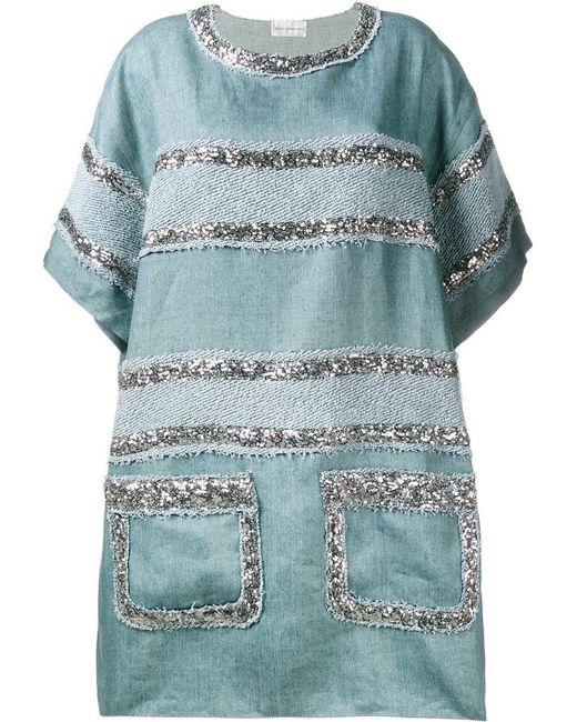 Faith Connexion - Blue Sequin Embellished Dress - Lyst