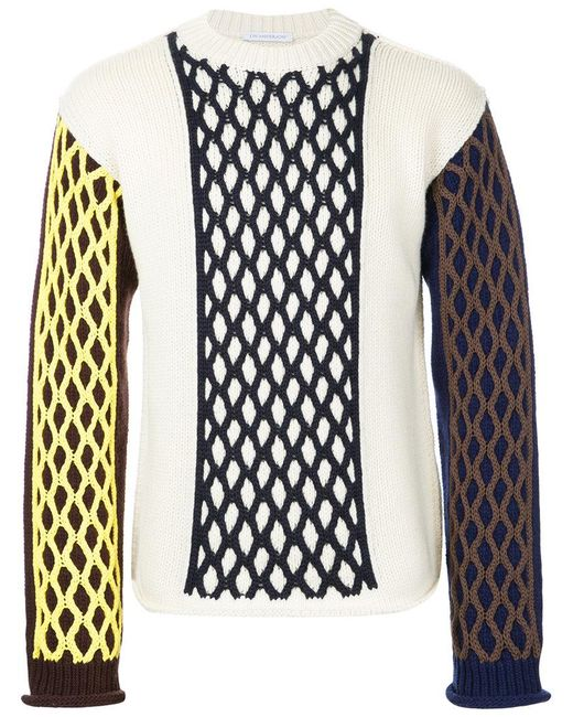 J.W. Anderson - White Cable Knit Turtle Neck for Men - Lyst