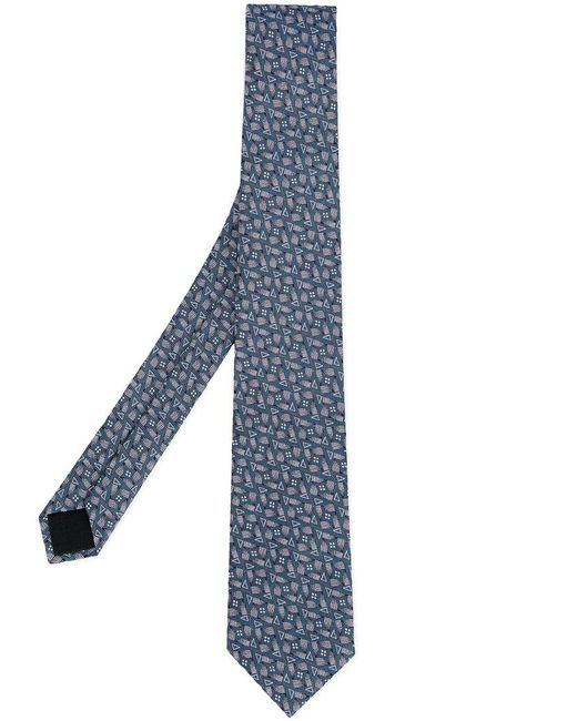 Cerruti 1881 - Blue Printed Tie for Men - Lyst
